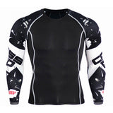 Mens Compression Shirts Bodybuilding Skin Tight Long Sleeves Jerseys Clothings MMA Crossfit Exercise Workout Fitness Sportswear-compression shirt-StyloMylo World