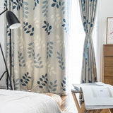 Modern Blackout Curtains For Living Room Bedroom Window Curtain Drapes Leaves Thick Curtains  treatment Blind Fabric Drapes Deco
