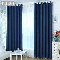 Modern Blackout Curtains Lustrous Linen For Home Hotel Bedroom Living Room Window Blind Fabric Solid Panel Noise Reducing