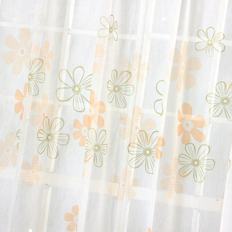 Modern Curtains Floral Blackout Curtains for Living Room Kids Curtains for Bedroom Window Treatment Purple/Orange Ready Made-curtain-StyloMylo World