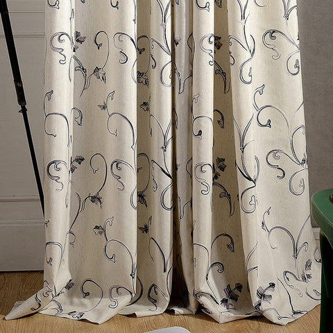 Modern Curtains For The Bedroom Blackout Living Room Gray Green Embroidered Sheer