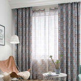 Modern Geometric Printed Blackout Curtains for Living Room Darkening Drapes Organza Kitchen Curtains Window Door Single Panel-curtain-StyloMylo World