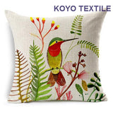 Modern Printed Slub Linen Animal Cute Bird Vintage Cartoon Tropic Leaf Gift Sofa Car Cushion Cover Throw Pillow Cover case-Throw Pillow Cover-StyloMylo World