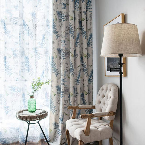 Modern Printing Cotton Floral Curtains For Living Room Country style Floral Kitchen Cortinas Bedroom Window Screen Single Panel-curtain-StyloMylo World