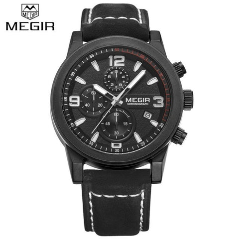 MUST LOOK ! Sports Chronograph Men's Watches Top Luxury Brand Quartz Watch Casual Clock Men Genuine Leather Strap Reloj Hombre-watches-StyloMylo World