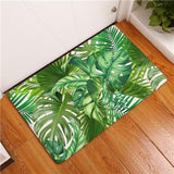 New Anti-Slip Carpets Plant Leaves Print Mats Bathroom Floor Kitchen Rugs 40X60 50X80 cm-Floor Mats-StyloMylo World