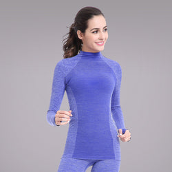 New Female Long Hoody Gymming Fitness Women Tee Conpression Workout Clothing Sporting Shirt Runs Thermal Underwear Yogaing Top-gym wear-StyloMylo World