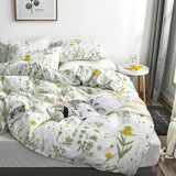 NEW ! Floral Duvet Cover +Pillowcase Microfiber Bedding Set Single Full Queen King Double Size