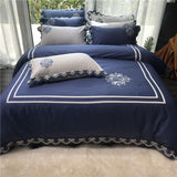 NEW Luxury white egyptian cotton bedding sets queen king 4pcs Embroidery duvet cover bedsheet set bedclothes