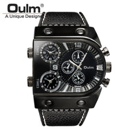 NEW ! Men Casual Leather Strap Quartz Watches-watches-StyloMylo World