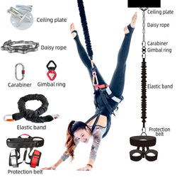 NEW Professional Yoga Bungee Fitness Equipment Complete Set Exercise Resistance Cord Belt Bungee Dance Rope Gravity Workout