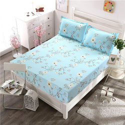Pillowcase Fitted Bedsheet 3 Pieces Bedding Set Soft Fabric Home Decoration-Beddings-StyloMylo World
