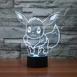 Pokemon Go pikachu figurines table lamp toys 2016 New Pokemon 3D LED 7 color changing flash birthday party atmosphere decoration-Pokemon-StyloMylo World