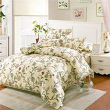 Princess ruffle blue flower bedding set adult girl full queen king romantic elegant bedclothes quilt cover pillow case bed sheet-Beddings-StyloMylo World