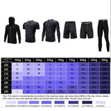 WorthWhile Men's Tracksuit Compression Sports Suit Gym for Fitness Clothes Training Exercise Workout Running Jogging Sport Wear