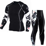 Man Sports Suit Quick-drying Sweat Compression Fitness Training Rashguard Kit Male Sportswear Jogging Running Clothes