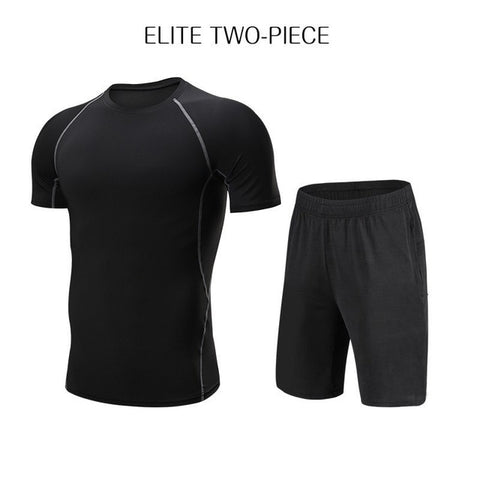 WorthWhile Men's Tracksuit Compression Sports Suit Gym Fitness Clothes Running Jogging Sport Wear Training Exercise Workout