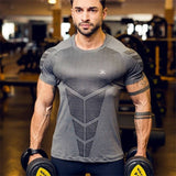 Men Gyms Fitness T-shirt Compression Skinny Bodybuilding t shirt Muscle худи Male Summer Casual Workout Tee Tops Brand Clothing