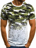 Men Camouflage Printed Male T Shirt Large size Bottoms Top Tee Male Streetwear Short Sleeve Fitness Big Tshirts High Quality