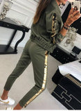 New products for autumn fashion casual sequined blazer, trouser sport suit,  casual long-sleeve womens clothes sport moda femini