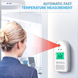 Newly Non-contact Infrared Temperature Wall Mount Smart Sensor Automatic Temperature Detector with Digital display Alarm TE889