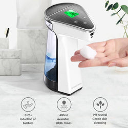2 in 1 Thermometer automatic soap dispenser touchless sensor automatic hand washer non-contact Soap Dispenser for bathroom