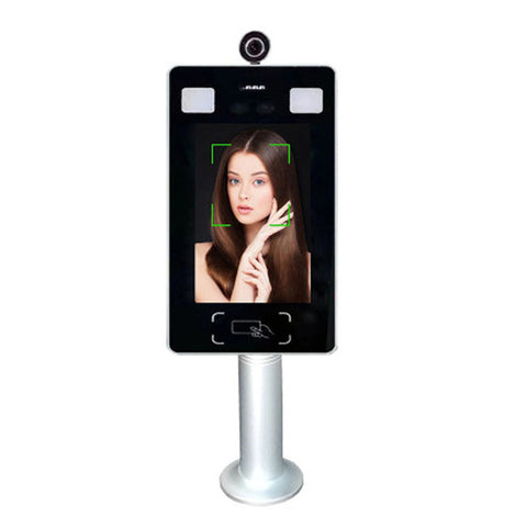 Body temperature detection Dynamic face recognition time attendance access control 2.0 MP camera 20000 faces 7 inch wifi