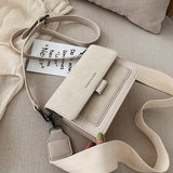 Small bag women 2020 /21 new Korean version of small square bag wide shoulder strap fashion Joker shoulder Messenger bag