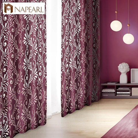 Ready Made Semi Blackout Curtains Blind Panel Fabrics For Window