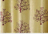 Rich Tree Curtains European Simple Jacquard Curtain Plant Pastoral Red Wine Gray For Living Room Tulle Kitchen Bedroom-curtain-StyloMylo World