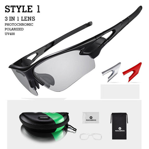 ROCKBROS Sport Photochromic Polarized Glasses Cycling Eyewear Bicycle Glass MTB Bike Bicycle Riding Fishing Cycling Sunglasses-sunglasses-StyloMylo World