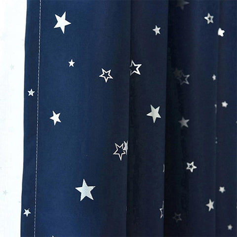 Shiny Stars Children Cloth Curtains For Kids Boy Girl Bedroom Living Room Blue/Pink Blackout Cortinas Custom Made Drape WP123#40