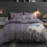 Simple modern style Black white stripes Bedding Egyptian cotton bedsheet comforter set 3/4pc quilt cover sets edredon
