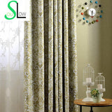 [Slow Soul]New European Style American Simple Printing Shade Curtain Cloth Curtains For Living Room Cortina Blackout Drapes-StyloMylo World