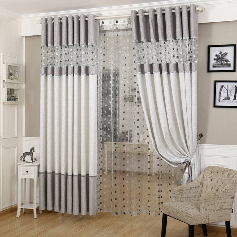 Stitching Yarn Curtain Window Modern Curtain Blackout ...