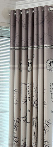 The bamboo curtain of modern Chinese shade cloth curtains for bedroom and living room free shipping-curtain-StyloMylo World