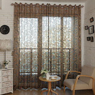 Top Finel Geometric Modern Window Sheer Curtain Panels for Living ...