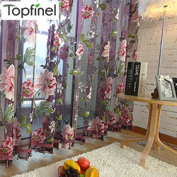 Top Finel Purple Tulle for Windows Luxury Sheer Curtains for Kitchen Living Room The Bedroom Window Treatments Panel Draperies-curtain-StyloMylo World