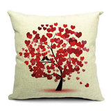 Tree Printed Linen Cushion Cover Decorative Pillows Sofa Car Pillow Cover 45*45cm-Throw Pillow Cover-StyloMylo World