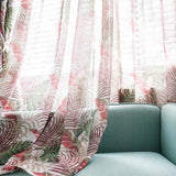 Tropical Printed Blackout Curtains for Living Room Green Leaves Palm Tree Tulle Veil Liner Cortinas Bedroom Window Treatments-curtain-StyloMylo World