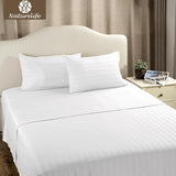 White Plaid Sheet Set Bedspread Bedsheet Pillowcase Quilted Bedding Lightweight Soft Smooth Coverlet Sets 3/4pcs-Beddings-StyloMylo World
