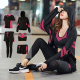 Women Gym 5 Piece Set Workout Clothes for Sports Bra and Leggings Set Sports Wear for Women Run Clothing Fitness Yoga Set S-4XL