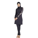 XREOUGA Muslim Swimwear Islamic Swimsuits Covered Swimsuits Long Sleeve Beach Wear Plus Size S-4XL Free Shipping MS12-swimwear-StyloMylo World