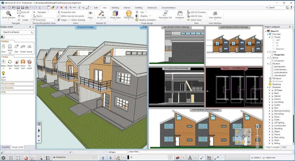 Town House BIM Design file_carpenterA - Digital file