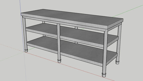 Stainless_Standing_Shelf_2step_1800_600_800