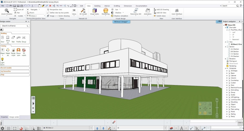Villa Savoye BIM file - Digital file