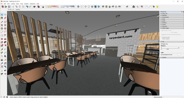 Cafe_desing_sketchup - Digital file