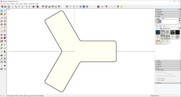 3 Angle Table design file with Rhino3D and skp file - Digital file