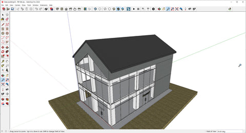 Steel building of SketchUp