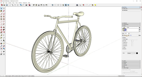 Bicycle design with Rhino - Digital file